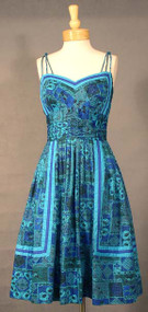 GORGEOUS Teal & Cobalt Alix of Miami Sun Dress