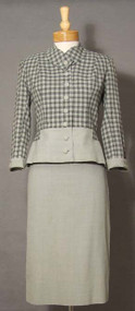 Chic Checked 1960's Suit of Lesur Fabric