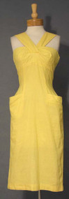 Bombshell Sunny Yellow 1950's Halter Dress