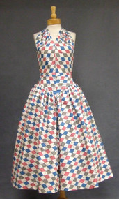 AWESOME 1950's Harlequin Halter Dress
