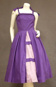 Gorgeous Two Toned Purple Cotton 1950's Sun dress
