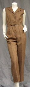 George Halley Brown Jumpsuit w/ Removable Top