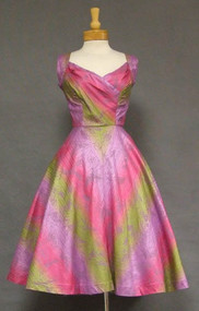 SUPERB Peggy Wood 1950's Hawaiian Dress