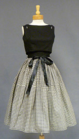 Cool Black & White 1950's Sun Dress w/ Reversible Topper