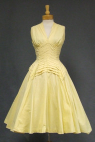 AMAZING Suzy Perette Daffodil Cotton 1950's Summer Dress