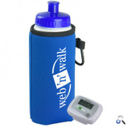 Walking Kit - Pedometer with Bottle and Holder - PEDBC16