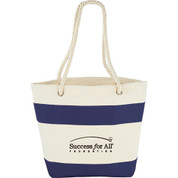 Capri Stripes Cotton Shopper Tote - 7900-40