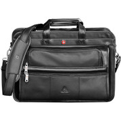 Wenger® Leather Double Compartment Attache - 9350-56
