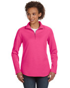 Add Your Logo to LAT - Ladies Quarter Zip Pullover - 3764