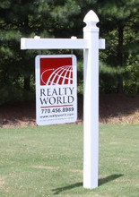 "60"" x 40"" Overall Size Heavy Duty Plastic Traditional Single Arm Real Estate Sign Post - Special Offers"