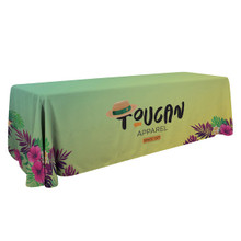 8' Standard Creations Series Trade Show Expo Booth Table Throw Table Cover with Full Bleed Imprint