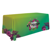 6' Standard Creations Series Trade Show Expo Booth Table Throw Table Cover with Full Bleed Imprint