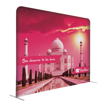 "72""H x 96""W Creative Series EuroFit Trade Show and Expo Straight Wall Kit Floor Display Stand with Double-Sided Printed Graphic"