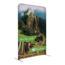 "72""H x 48""W Creative Series EuroFit Trade Show and Expo Straight Wall Kit Floor Display Stand with Double-Sided Printed Graphic"