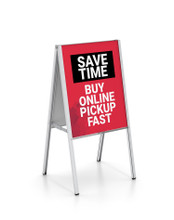 24 x 36 Inch INDOOR All Aluminum A-Frame Sign Holder Stand. Made in USA