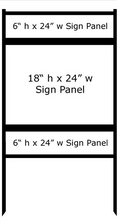 18 x 24 Inch Insert Bull Steel H-Frame Real Estate Yard Sign Stand with Top and Bottom Rider, 4-Pack. Made in the USA