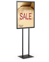 """22"""" x 28"""" Performance Series Sign Holder, Black. Made in the USA"""