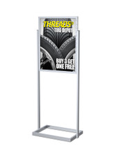 "22"" x 28"" Professional Series Sign Holder, Silver. Made in the USA"