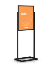 "22"" x 28"" Professional Series Sign Holder, Black. Made in the USA"