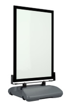 """28"""" x 44"""" Insert Size Classic WindMaster Wind-Flex Sidewalk Sign with Rolling Base, Black Frame. Made in the USA"""