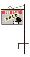 "24"" x 40"" Sign Size Uneaque Series In-Ground Metal Crane Style Real Estate Sign Frame"