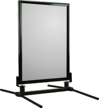 Black Frame WindMaster curb sign stand