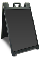 "24"" x 36"" Insert Grimtech DELUXE Quick-Change Signicade Plastic A-Frame Sign. Color: Black - Special Offers"