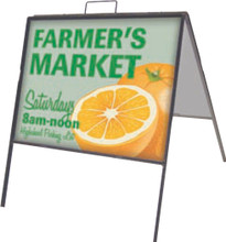 "18"" x 24"" Uneaque Series Insert Top Loading Metal Sign Stand A-Frame, Two-Pack"