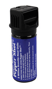 PEPPER SHOT TM 10% PEPPER SPRAY FLIP TOP ACTUATOR STREAM 2OZ