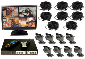 8 CHANNEL WIRED DIGITAL VIDEO RECORDING COMPLETE SYSTEM