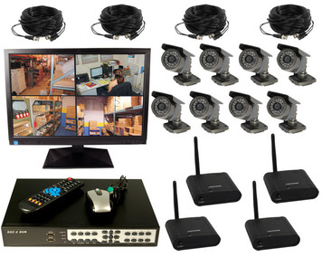 8 CHANNEL WIRELESS DIGITAL VIDEO RECORDING COMPLETE SYSTEM