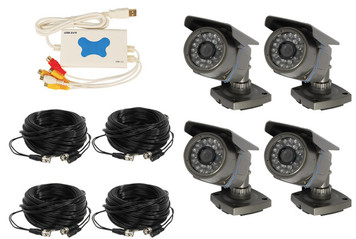 4 CHANNEL WIRED USB DVR SURVEILLANCE SYSTEM