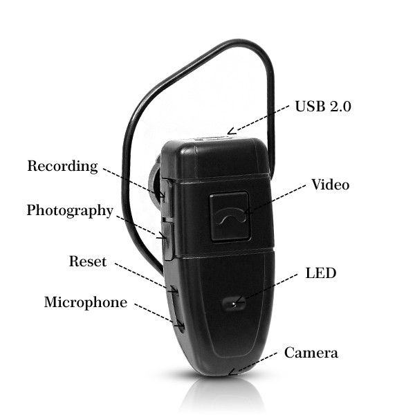 Earpiece Camera Dvr Personal Security Devices