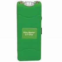 Stun Master Lil Guy 12,000,000 volts Green Stun Gun W/flashlight and Nylon Holster  SKU: SM-LILGUY-G