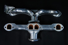 68 - 72 Corvette D-Port Ceramic Coated Ramhorn Manifold Replacement W/ Alternator Bracket ! 1 5/8 to a 2' Collector