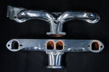 68 - 72 Corvette D-Port Ceramic Coated Ramhorn Manifold Replacement W/ Alternator Bracket ! 1 3/4' Tubing to a 2 1/2' Collector