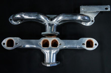 55 - 62 Corvette D-Port Ceramic Coated Ramhorn Manifold Replacement W/ Generator Bracket ! 1 5/8 to a 2' Collector