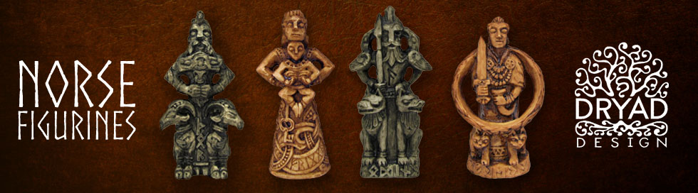 Norse God and Goddess Figurine Statues
