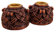 Celtic Knotwork Candleholders Pair