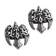 Sterling Silver Celtic Goddess Morrigan Raven Stud Earrings