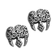 Sterling Silver Raven Pentacle Stud Earrings
