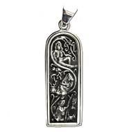 Sterling Silver Maiden Mother Crone Pendant Wicca Goddess Jewelry