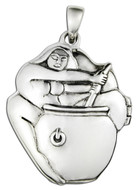 Sterling Silver Cerridwen Aromatherapy Locket Pendant