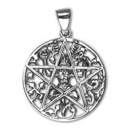 Sterling Silver Cernunnos Pentacle Pendant