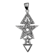 Sterling Silver 3rd Degree Pentacle Pendant