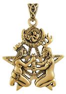Bronze Great Rite Pentacle Pendant