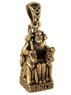 Bronze Seated Odin Pendant