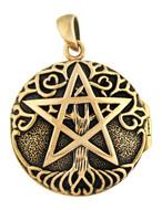 Bronze Tree Pentacle Aromatherapy Locket Pendant