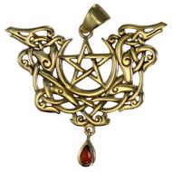 Bronze Dragon Pentacle Pendant