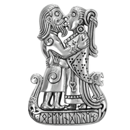 Sterling Silver Viking Kiss Pendant
